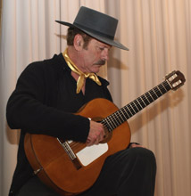 Guitar Instructor Terrence Farrell demonstrating flamenco guitar playing technique